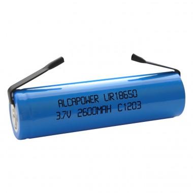 Batteria a Litio18650 3,7V 2600mAh Terminali a saldare
